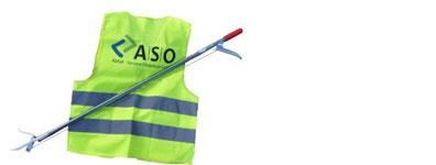 Müllzange und Warnweste©Abfall-Service Osterholz GmbH